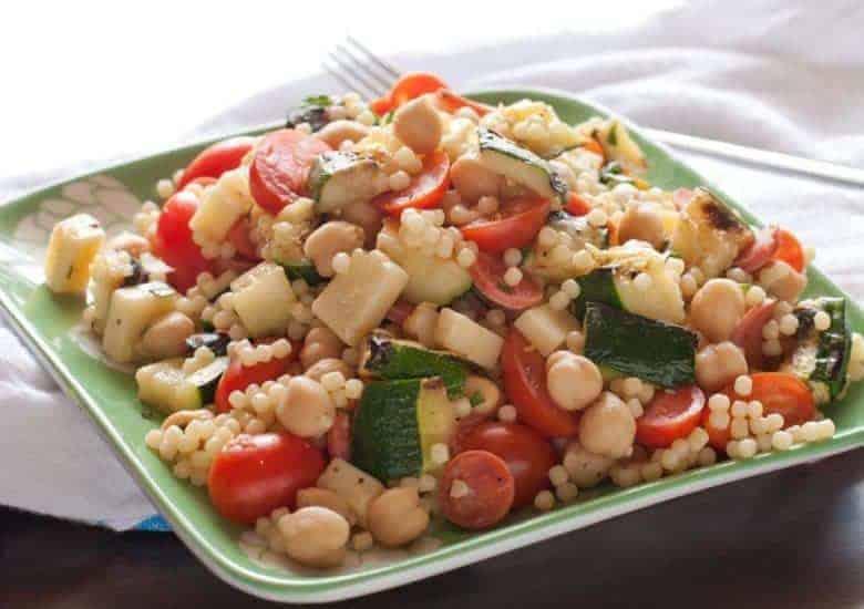 Grilled Zucchini Summer Pasta Salad