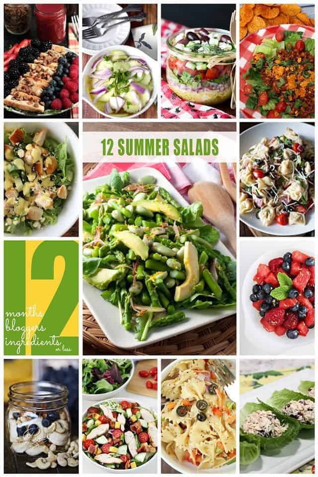 12 Awesome summer salad recipes collage of photos
