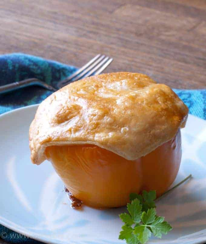Chicken Pot Pie Stuffed Peppers