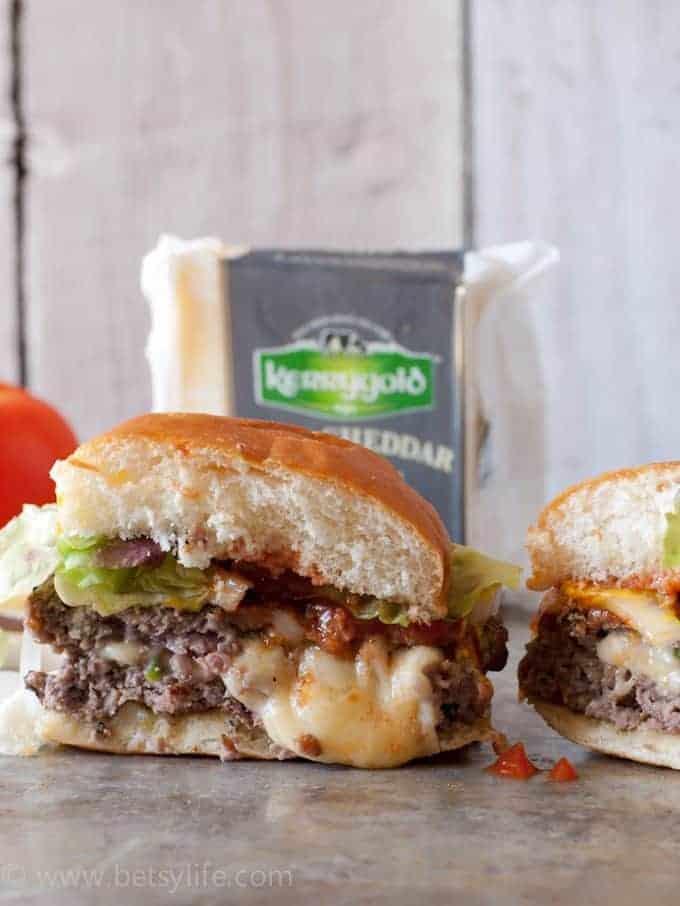 Jalapeno Cheddar Juicy Lucy Burger