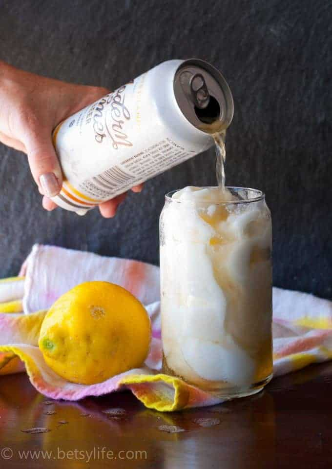 Lemon Sorbet Beer Float