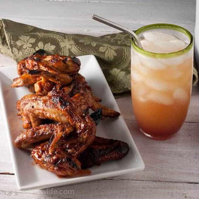 Pomegranate Glazed Chicken Wings
