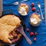 strawberry-cornbread-skillet-cobbler-recipe-feature