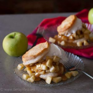 Caramel Apple Shortcake with Rum Whipped Cream Recipe