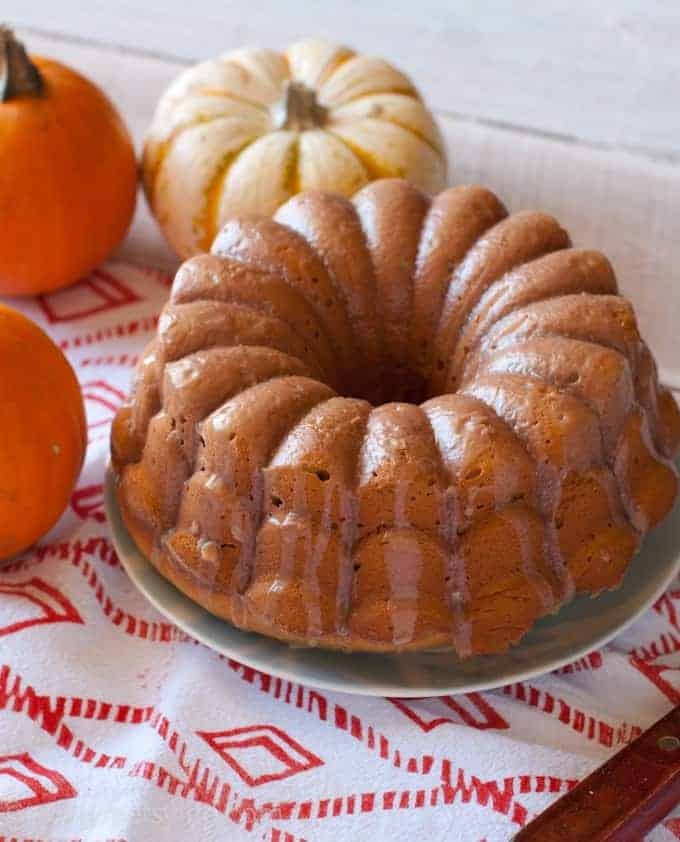 Glazed pumpkin spice bundt cake