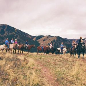 Horseback riding. Sun Valley, Idaho