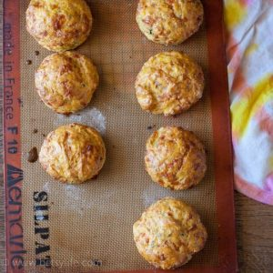 Savory Butternut Squash & Bacon Biscuits