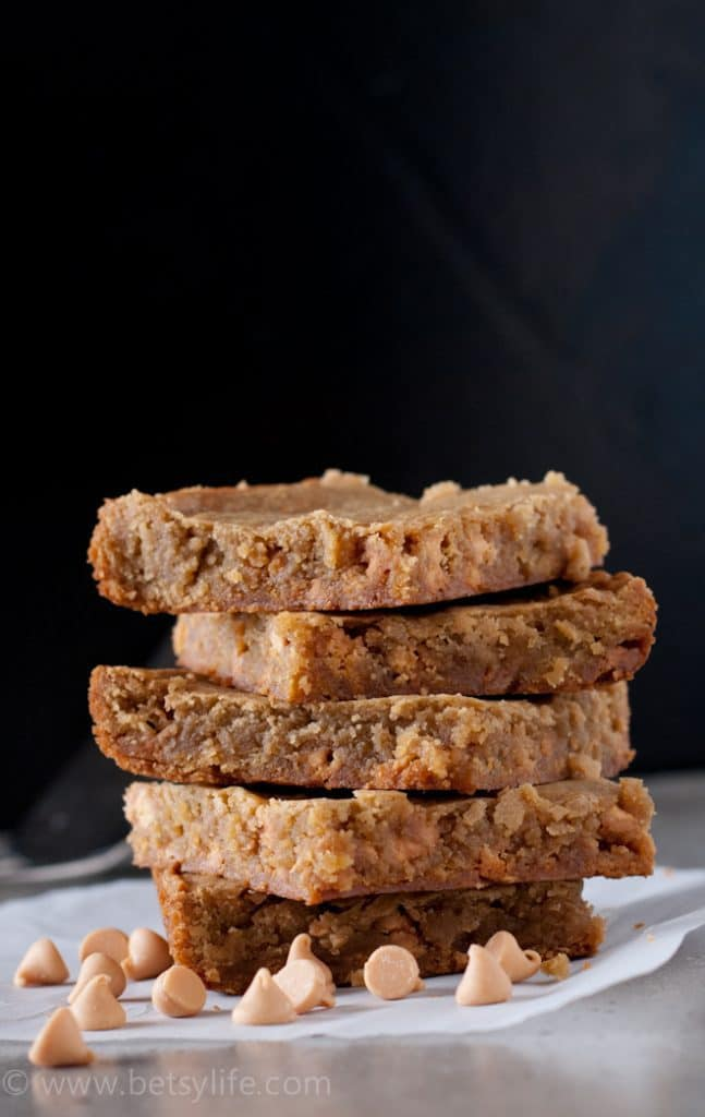 Bourbon Butterscotch Blondies