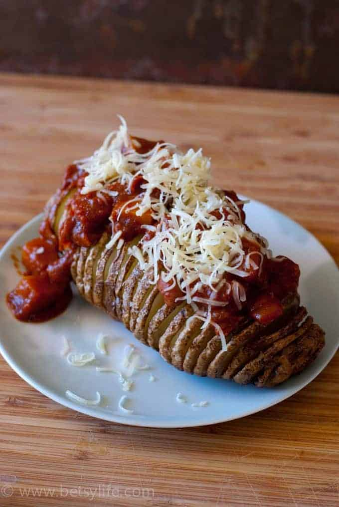 Chili Cheese Hasselback Potatoes