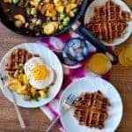 Leftover Stuffing Waffles and Turkey Vegetable Hash