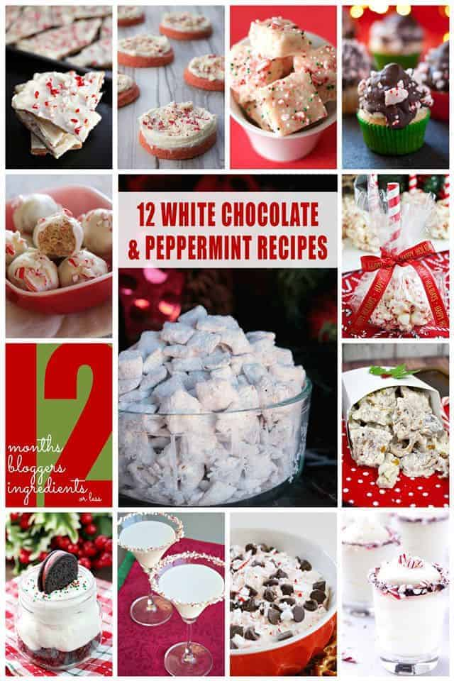 12 great white chocolate peppermint desserts.