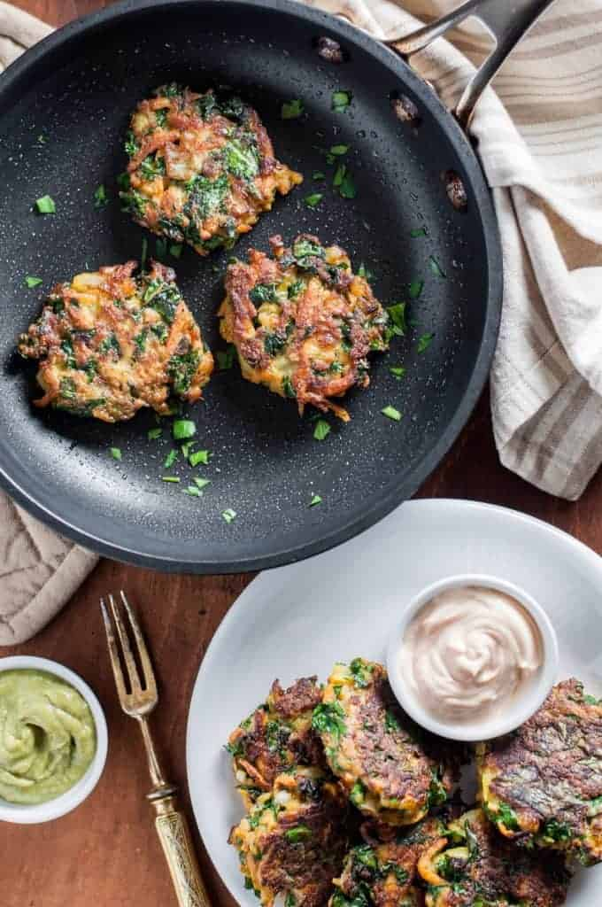 Sweet Potato and Kale Veggie Cakes and The Greatest Quick and Healthy Meals Ever!
