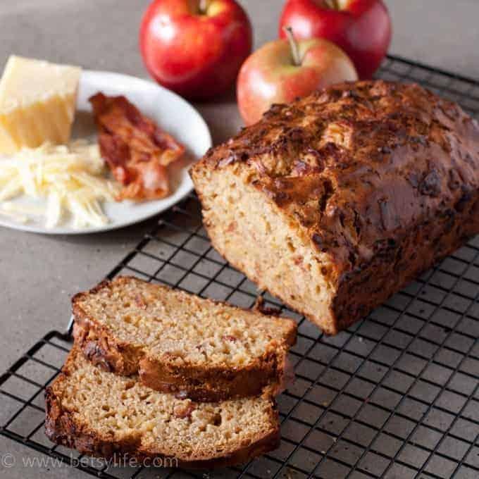 Bacon apple cheddar bread