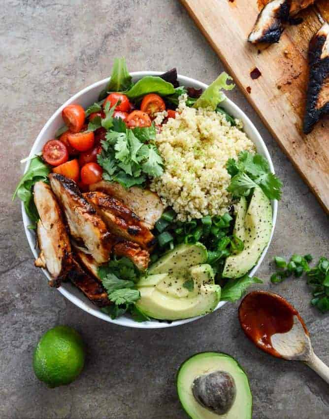 Honey Chipotle Chicken Bowls and The Greatest Quick and Healthy Meals Ever!