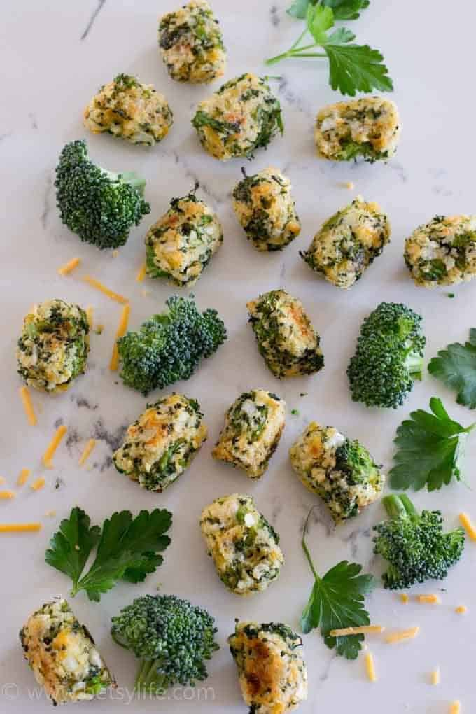 Broccoli, Cheddar, Ranch Tots