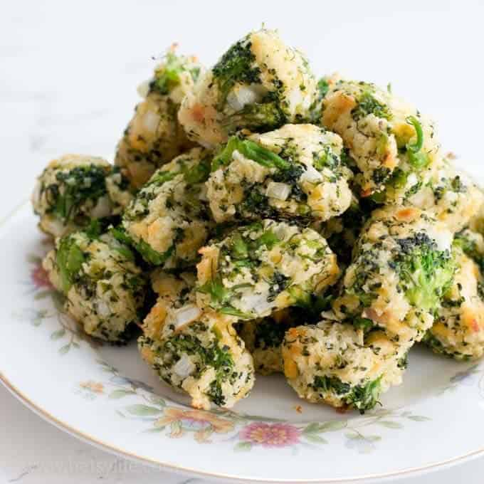balls of broccoli and breading