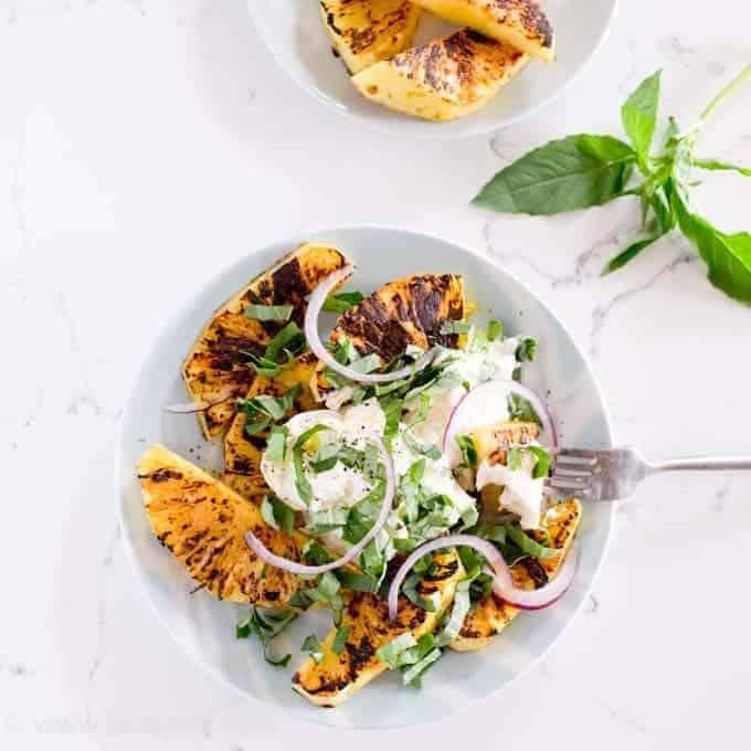 Grilled Pineapple Caprese Salad