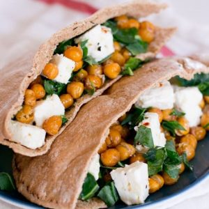 Marinated Feta and Crispy Chickpea Sandwich