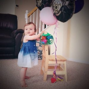 First birthday. Ombre baby dress