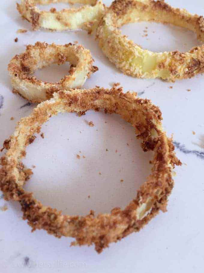 Crispy air fried onion rings