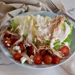 Pulled Pork Wedge Salad