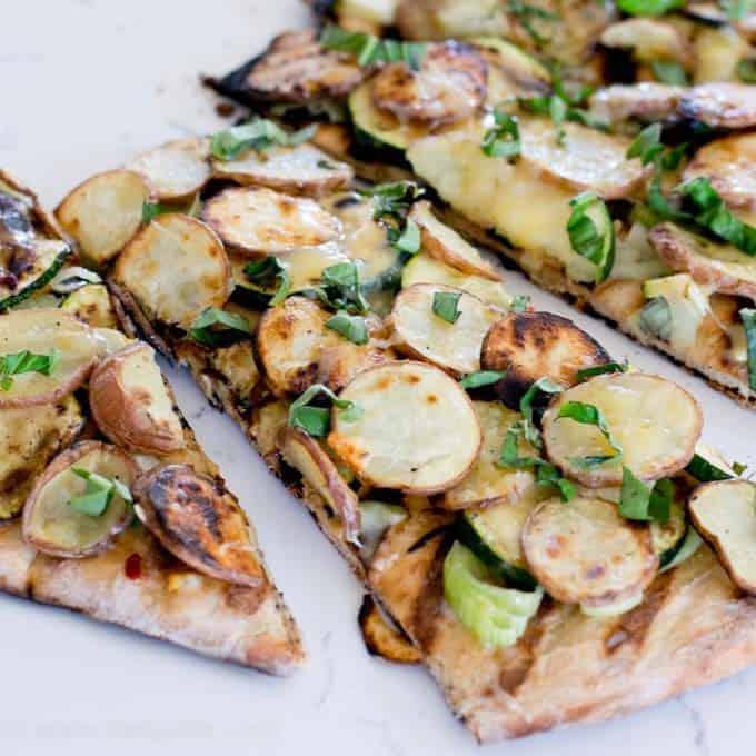 Grilled Potato Pizza Recipe