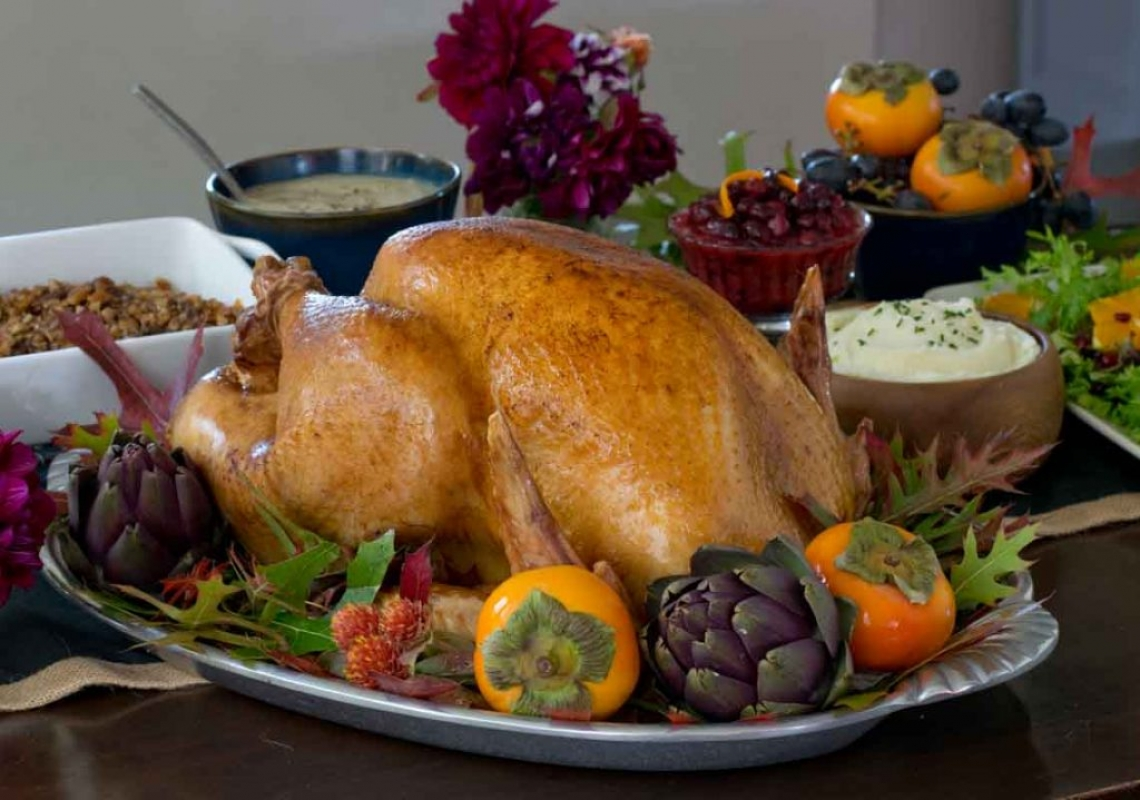 Thanksgiving food styling