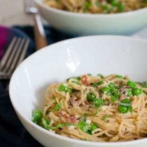 Whole Wheat Spaghetti Carbonara