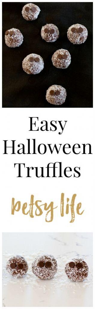 Easy Halloween Truffles