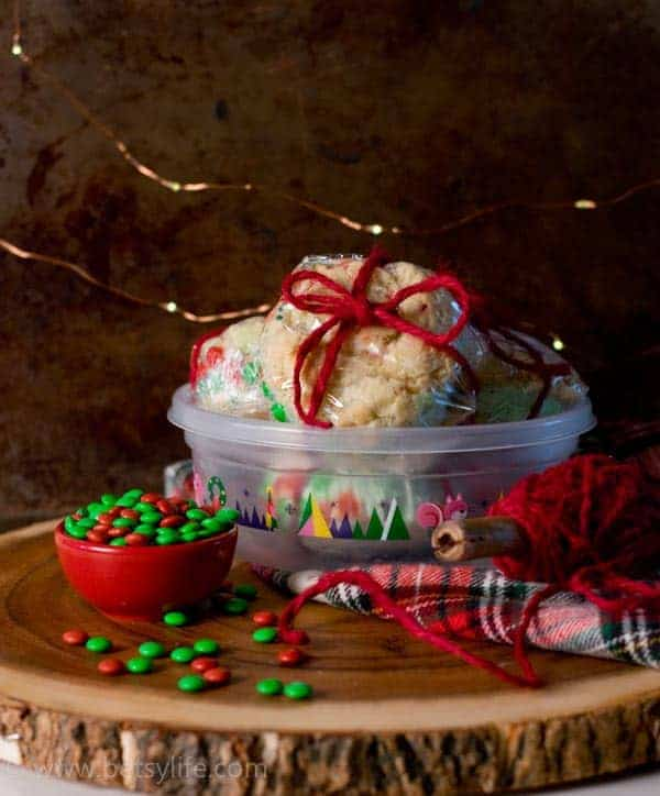 Holiday Funfetti Cake Batter Cookie Ice Cream Sandwiches