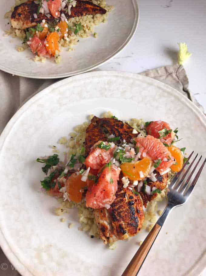 Spicy Blackened Sole with Citrus Pico de Gallo