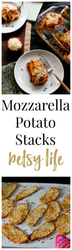 Mozzarella Potato Stacks