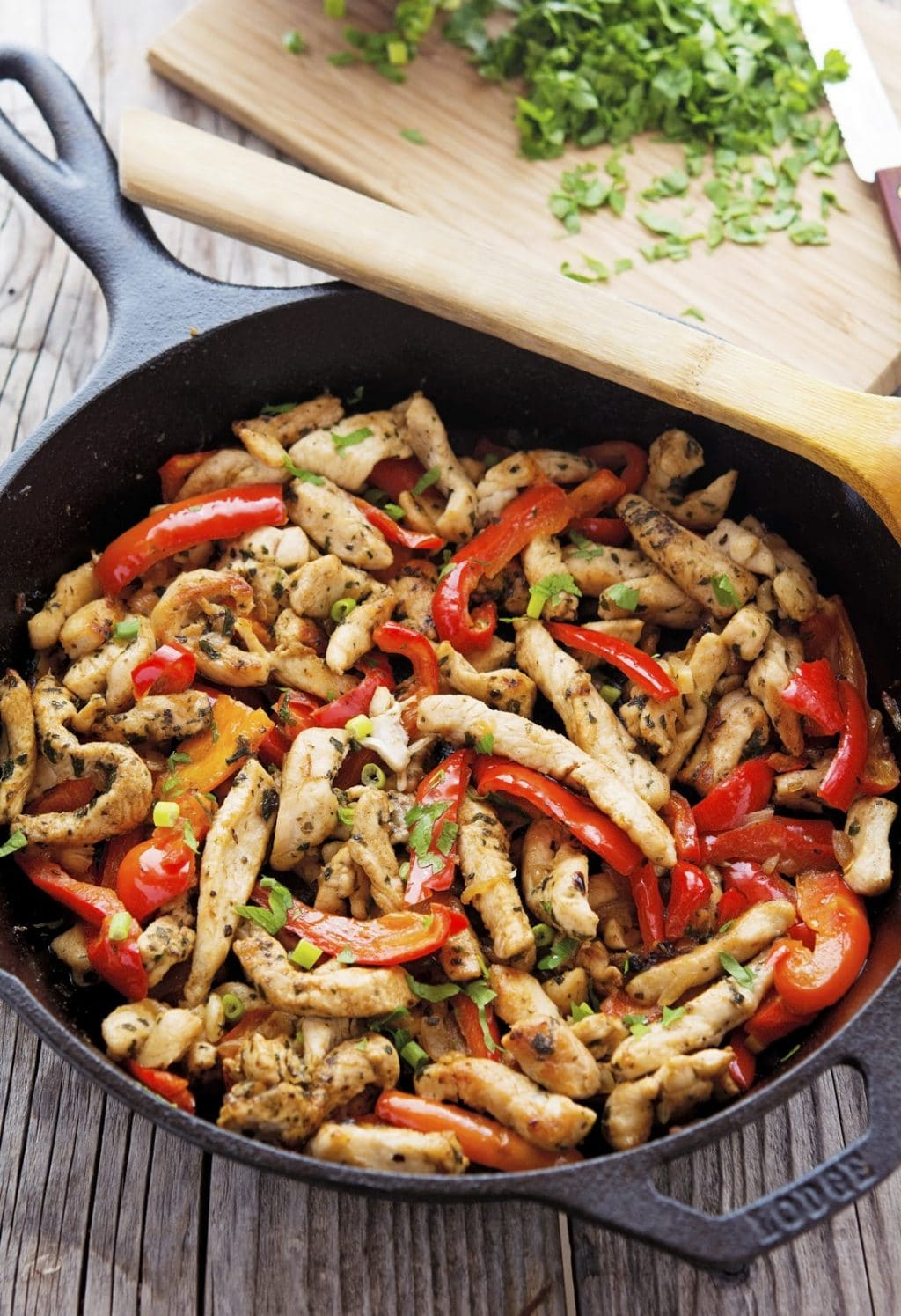20 Minute Chicken Skillet Fajitas