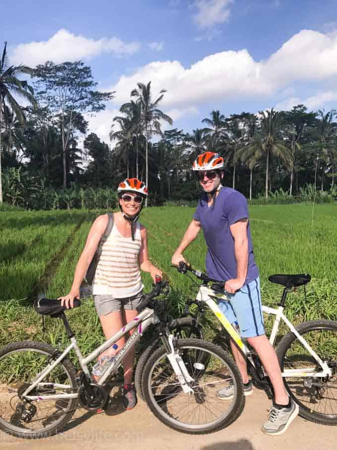 Rice Field Biking. Ubud, Bali Indonesia