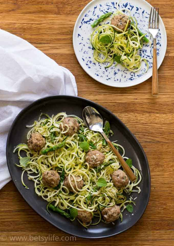 Turkey Meatballs with Zucchini Spaghetti