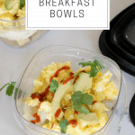 Make Ahead Breakfast Bowls on a white background