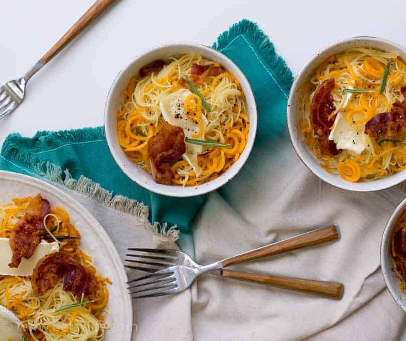 Butternut Squash Pasta with Brown Butter and Brie