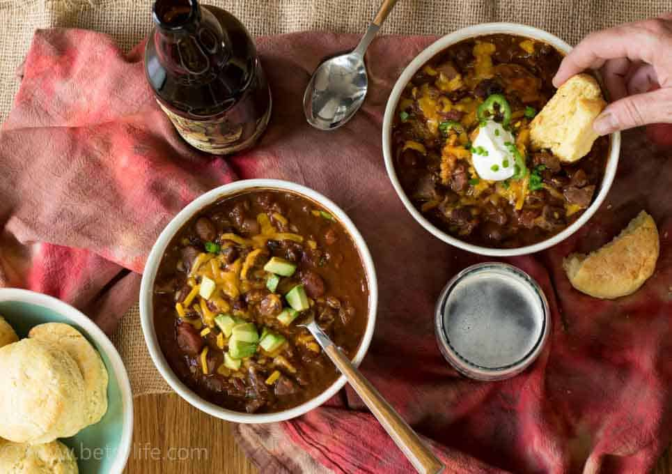 Spicy Beef Beer Chili - BetsyLife