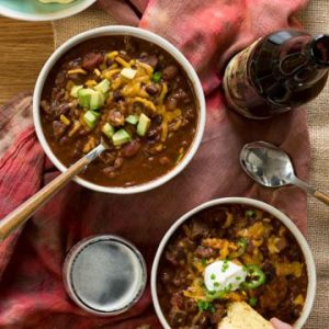 Spicy Beef Beer Chili