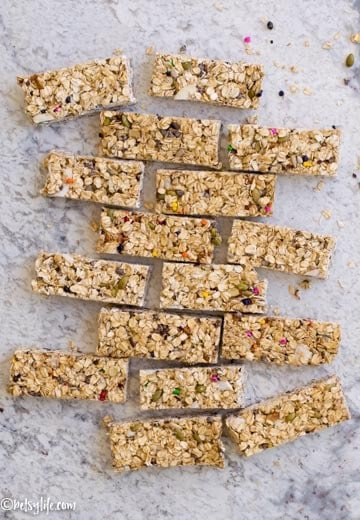 Clean Out Your Pantry Granola Bars