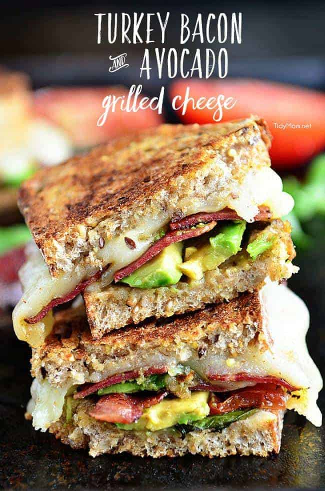 Turkey, Bacon, Avocado Grilled Cheese Sandwich
