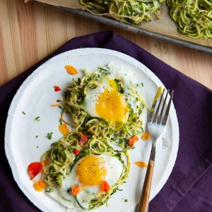 Crispy Spiralized Zucchini Nests