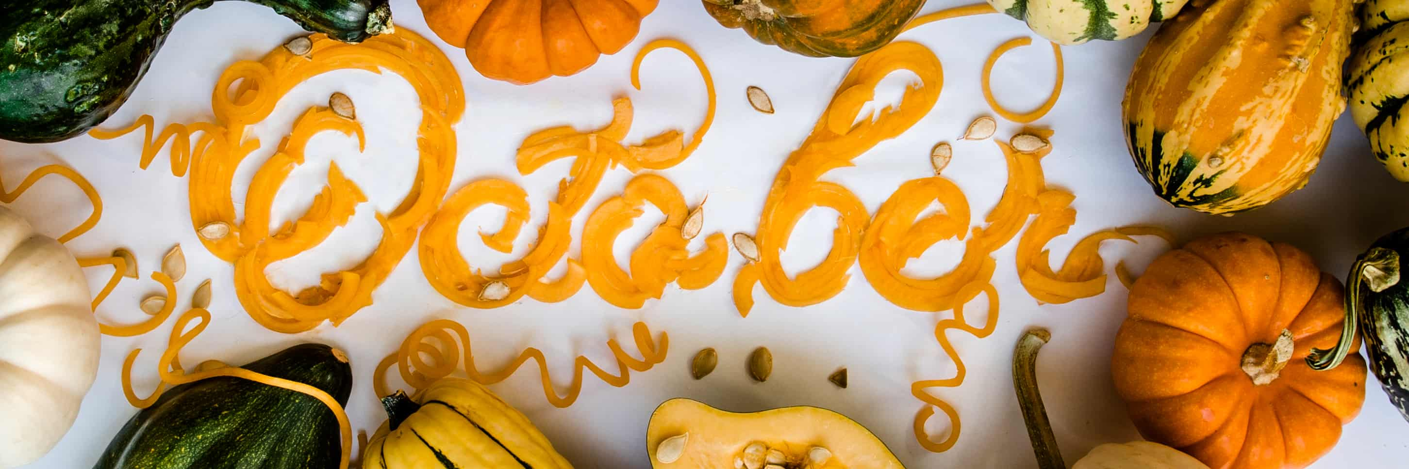 October Instagram banner made from squash