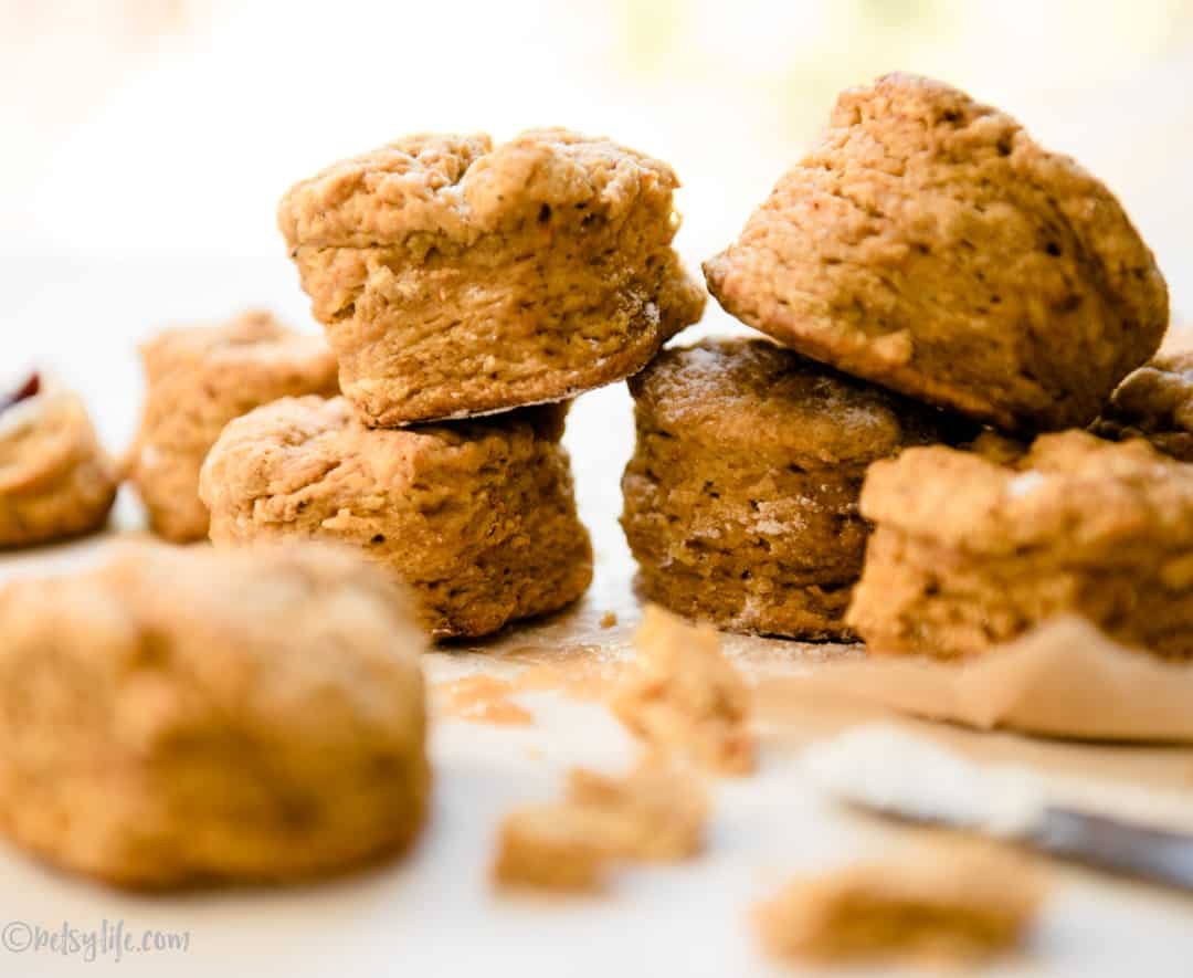 Stack of sweet potato biscuits